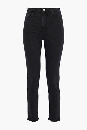 IRO Thila frayed high-rise skinny jeans