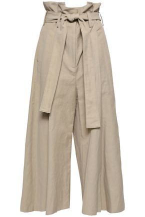 STELLA McCARTNEY Belted pleated twill culottes