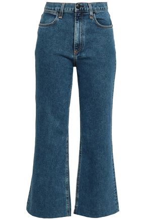 RAG & BONE Cropped high-rise kick-flare jeans