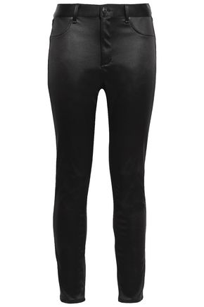RAG & BONE High-rise satin skinny pants