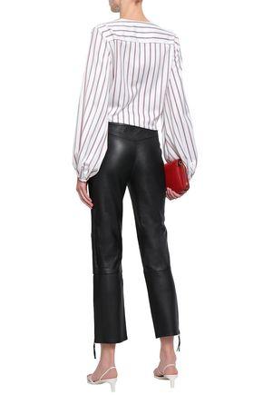 BY MALENE BIRGER Leather straight-leg pants