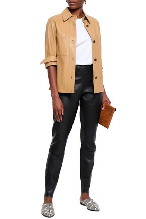 18539fdab9ae BY MALENE BIRGER Leather skinny pants