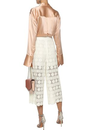 ZIMMERMANN Kali Daisy pleated broderie anglaise cotton culottes