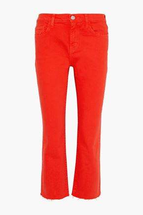 CURRENT/ELLIOTT The Kick cropped mid-rise straight-leg jeans
