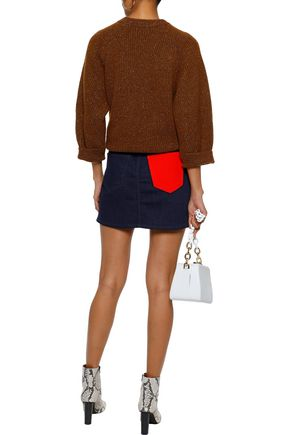 CURRENT/ELLIOTT The 5 Pocket denim mini skirt