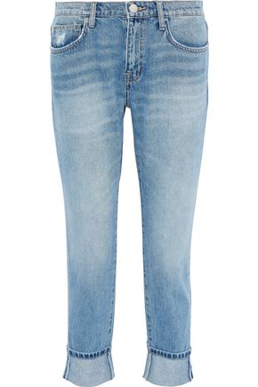 34b53d431f9 CURRENT ELLIOTT The Fling cropped distressed mid-rise slim-leg jeans