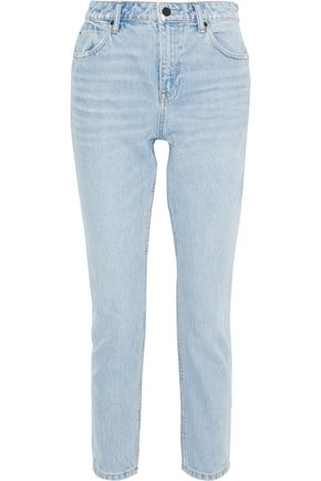 ALEXANDERWANG.T Zip-detailed high-rise straight-leg jeans