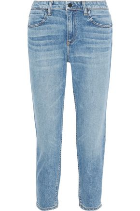 ALEXANDERWANG.T Ride mid-rise straight-leg jeans