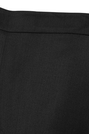 OSCAR DE LA RENTA Stretch-wool twill straight-leg pants