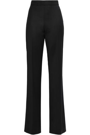 OSCAR DE LA RENTA Wool-blend twill straight-leg pants