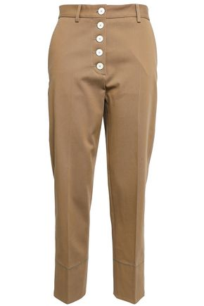PIAZZA SEMPIONE Cotton-blend twill tapered pants