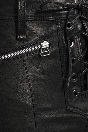 RAG & BONE Lace-up leather flared pants