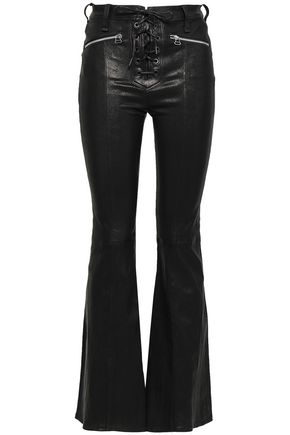 RAG & BONE Lace-up leather flared pants