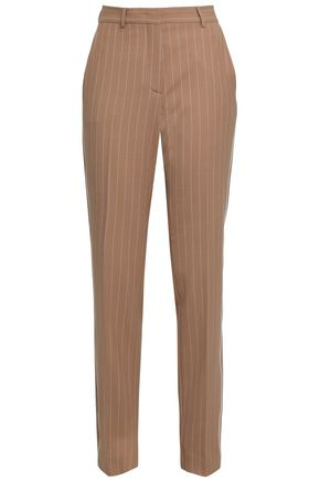 PIAZZA SEMPIONE Pinstriped twill tapered pants