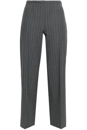 PIAZZA SEMPIONE Cropped pinstriped woven straight-leg pants