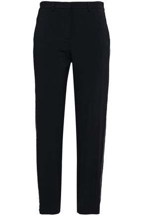 PIAZZA SEMPIONE Wool-blend crepe straight-leg pants