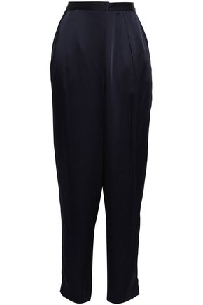STELLA McCARTNEY Wrap-effect satin tapered pants