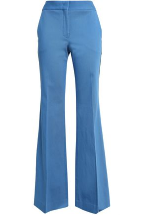 PIAZZA SEMPIONE Stretch-cotton twill flared pants