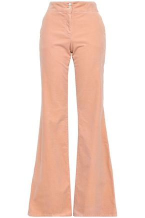 PIAZZA SEMPIONE Cotton-blend corduroy flared pants