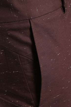 PIAZZA SEMPIONE Cotton-blend slub slim-leg pants