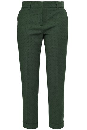 PIAZZA SEMPIONE Printed twill tapered pants