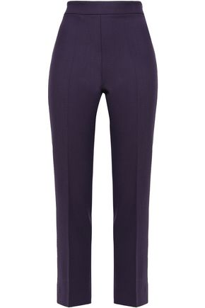 PIAZZA SEMPIONE Cropped twill tapered pants