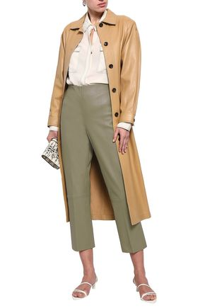 BY MALENE BIRGER Cropped leather straight-leg pants