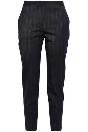 PIAZZA SEMPIONE Striped woven tapered pants