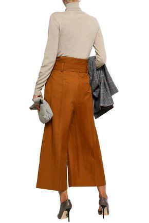 STELLA McCARTNEY Pleated twill culottes