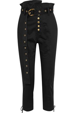 MARISSA WEBB Gia lace-up cropped cotton-blend skinny pants