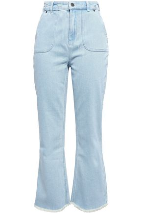 ZIMMERMANN Corsair distressed high-rise bootcut jeans