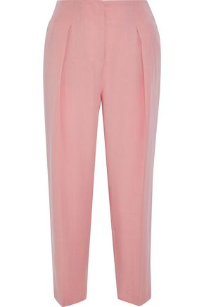 IRIS & INK Eva cropped twill straight-leg pants