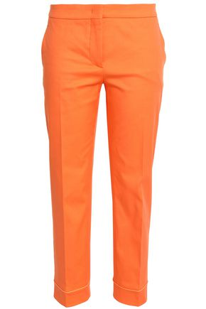 EMILIO PUCCI Cotton-blend slim-leg pants