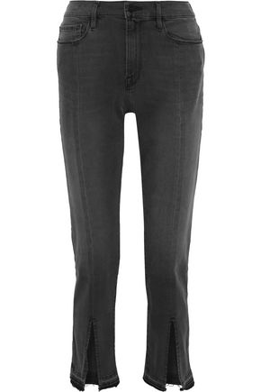 FRAME Le Nouveau Straight cropped high-rise straight-leg jeans