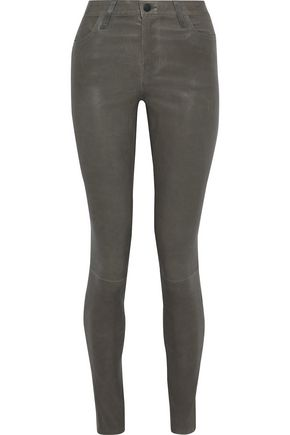 J BRAND Maria leather skinny pants