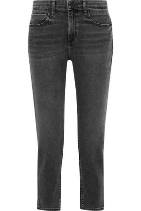 ALEXANDER WANG Ride cropped faded mid-rise slim-leg jeans