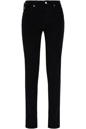 LOVE MOSCHINO Stretch-cotton corduroy skinny pants