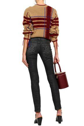 STELLA McCARTNEY Coated low-rise slim-leg jeans