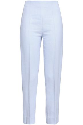 EMILIA WICKSTEAD Arabella cropped crepe slim-leg pants