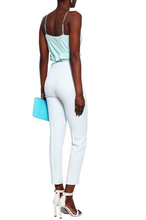 EMILIA WICKSTEAD Arabella cropped crepe slim-leg pants