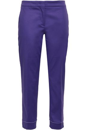 EMILIO PUCCI Cropped stretch-cotton slim-leg pants