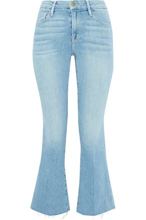 FRAME Le Crop Mini faded high-rise kick-flared jeans