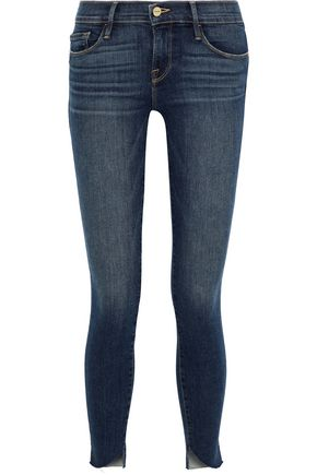 FRAME Le Skinny De Jeanne cropped mid-rise skinny jeans