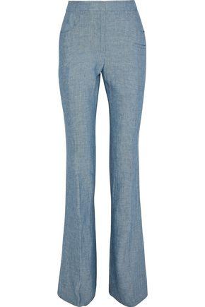 AKRIS Farid herringbone linen flared pants