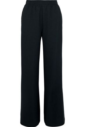 SEE BY CHLOÉ Lattice-trimmed crepe wide-leg pants