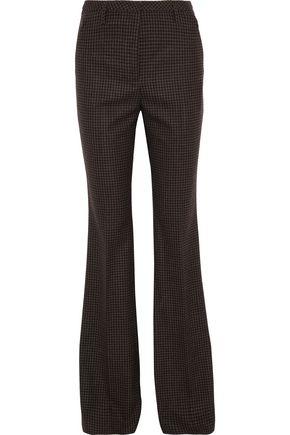 AKRIS Farrah gingham stretch-wool flared pants