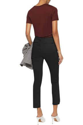 FRAME Cropped cotton-blend skinny pants
