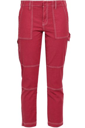 JOIE Cropped cotton-blend pants