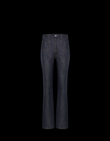 Moncler Skirts and Trousers Woman: DENIM