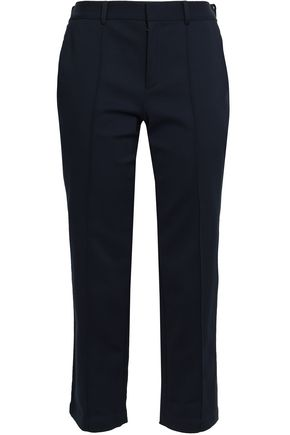 RAOUL Cropped cotton-blend straight-leg pants